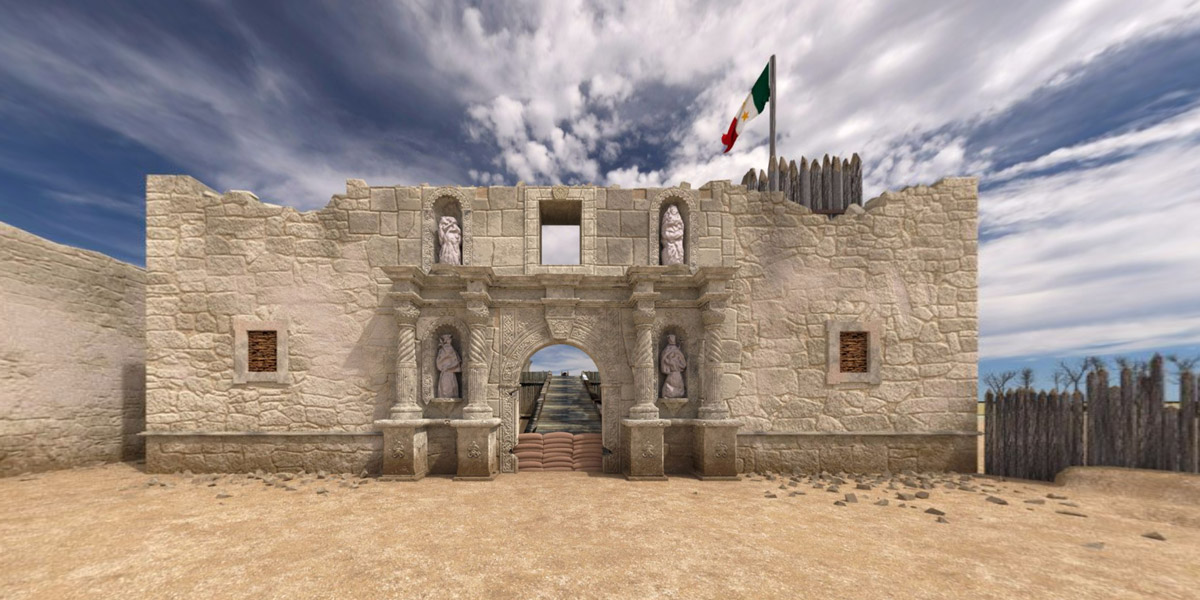 Blender 360 panoramas of 1836 Alamo