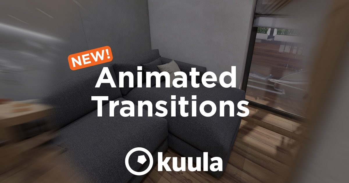 Animated Transitions in Virtual Tours on Kuula