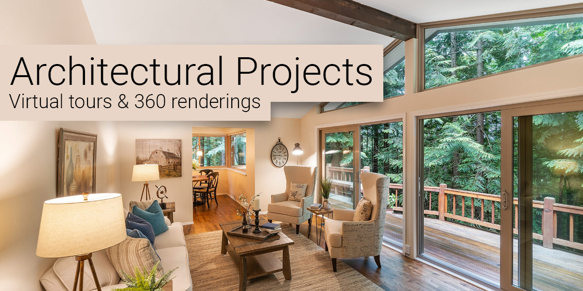 Virtual Tours are great for presenting architectural projects & renderings