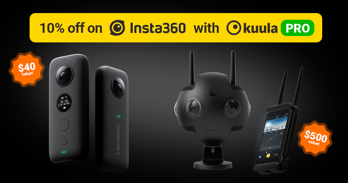 10% Discount on Insta360 ONE X and Pro 2