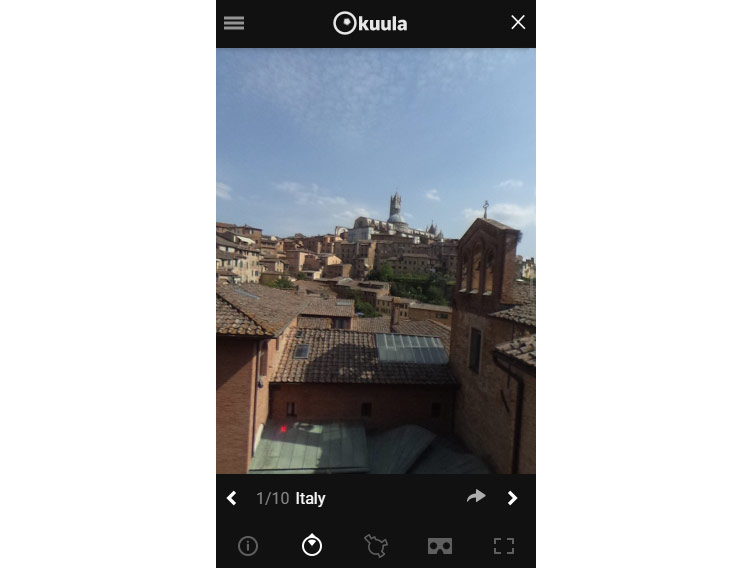 Kuula - virtual tour view mobile