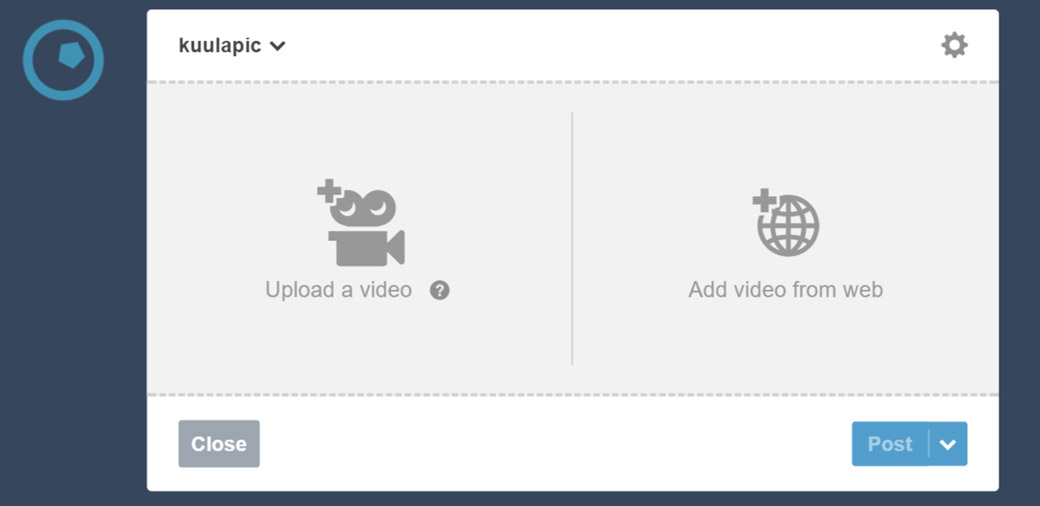 Add video from web will allow you to post 360 photos on Tumblr
