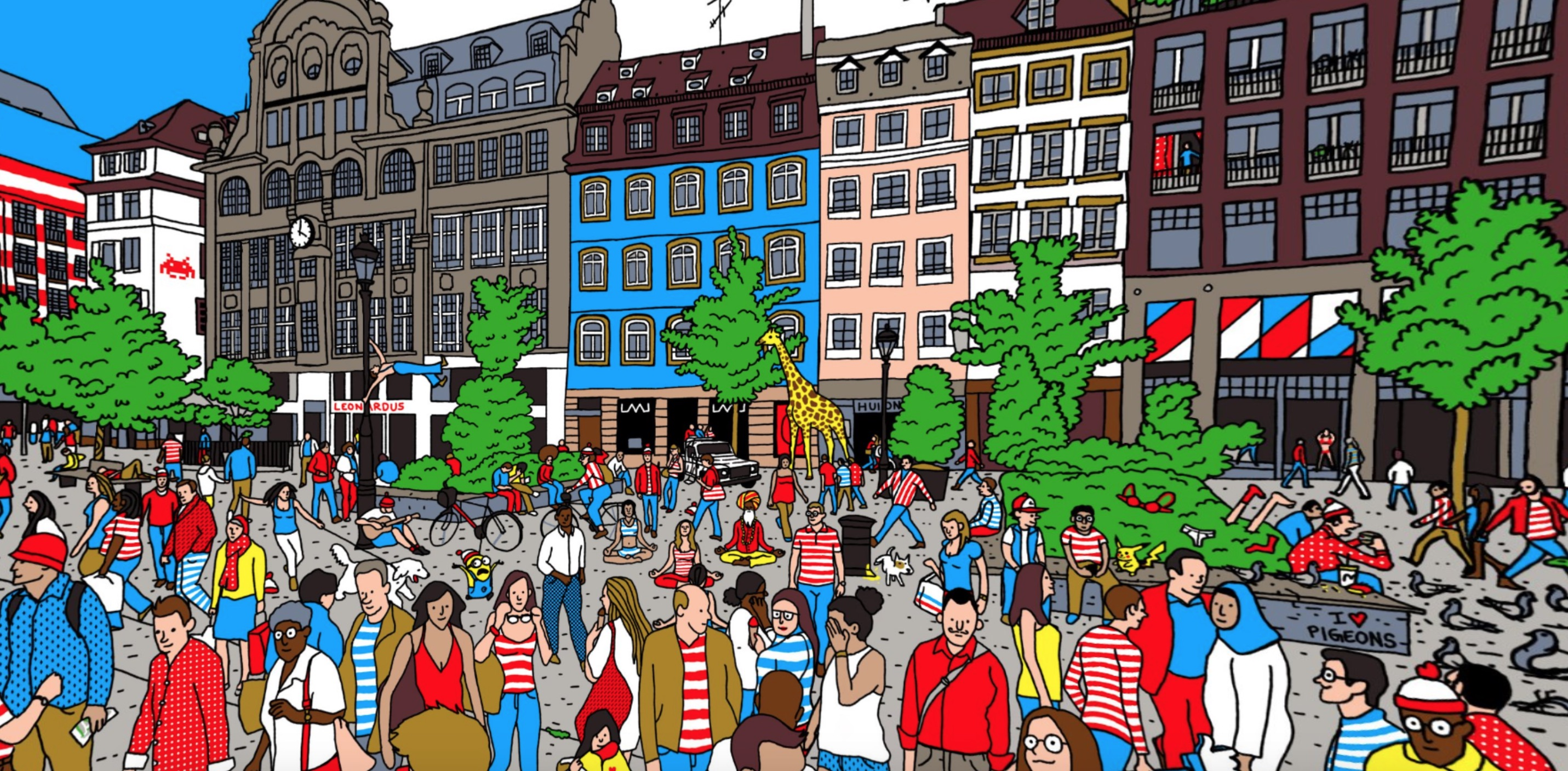 Can you find Waldo in this 360 image?